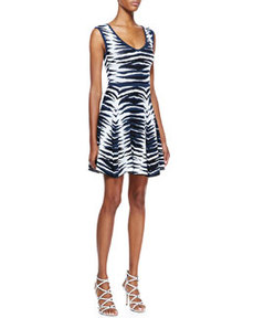 Ikat-Jacquard Flared Dress   Ikat-Jacquard Flared Dress