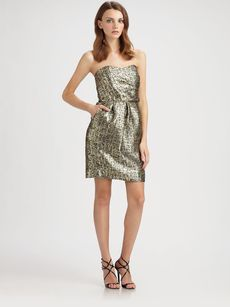 Shoshanna Sylvie Byzantine Metallic Dress