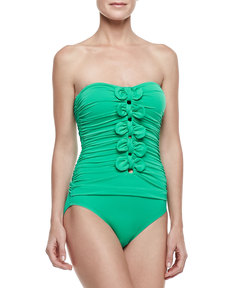 Juicy Couture Bow Chic Tie  Maillot One-Piece Swimsuit