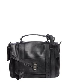 Proenza Schouler black leather medium 'PS 1' convertible shoulder bag