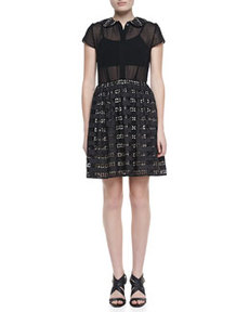 Anita Peter-Pan-Collar Eyelet Dress   Anita Peter-Pan-Collar Eyelet Dress
