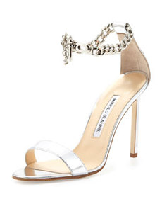 Chaos Metallic Chain-Wrap Sandal   Chaos Metallic Chain-Wrap Sandal