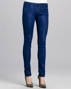 Habitual Denim Alice Coated Skinny Jeans, Prussian Blue