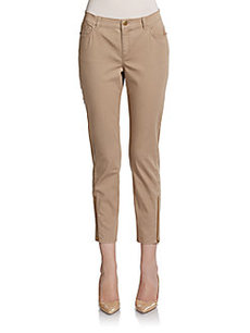 Lafayette 148 New York Slim Ankle Zip Pants