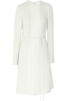 Chloé Silk chiffon-trimmed crepe dress