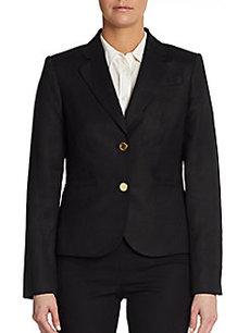 Calvin Klein Linen Two-Button Blazer
