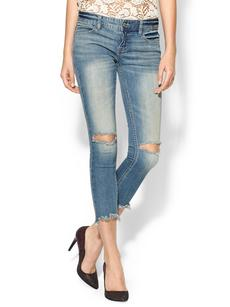 Free People Mid Rise Destroyed Ankle Skinny