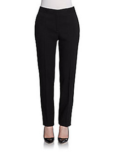 Calvin Klein Collection Wool Crepe Straight-Leg Pants