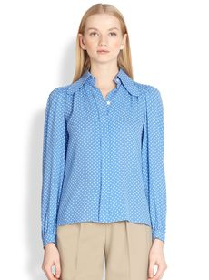Michael Kors Silk Dot Blouse
