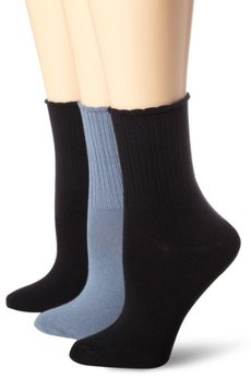 Hue Women's 3 Pack Topia Turncuff Sock