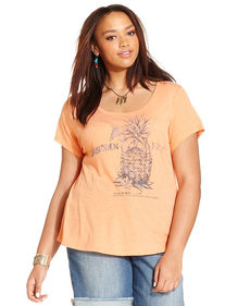 Lucky Brand Plus Size Pineapple-Print Tee
