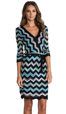 Trina Turk Harbor Dress in Black