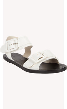 Proenza Schouler Leather Buckle Flat Sandals