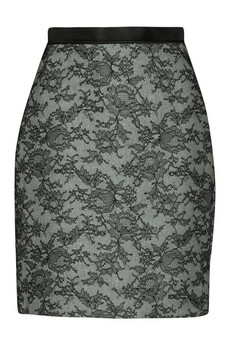 Jason Wu Lace-bonded wool and cashmere-blend skirt