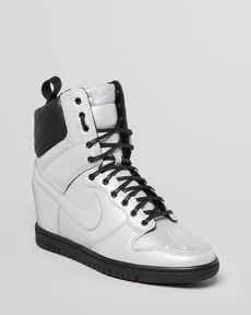Nike Lace Up High Top Sneaker Wedges - Women's Dunk Super Sky