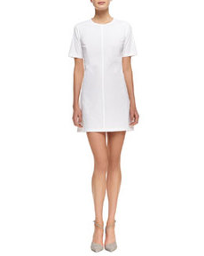 Palatial Twill Short-Sleeve Dress   Palatial Twill Short-Sleeve Dress