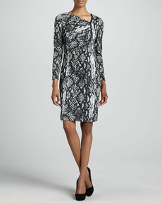 Kay Unger New York Snake-Print Dress