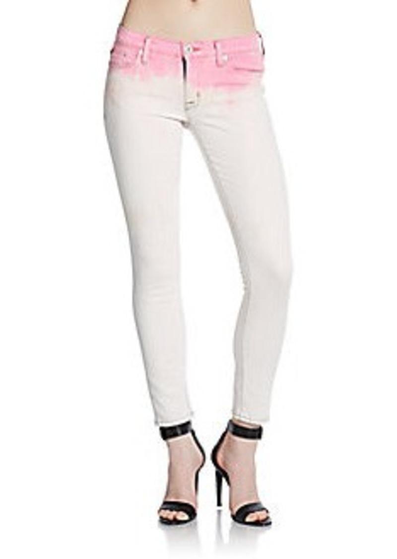 Hudson Dip-Dyed Super Skinny Cropped Jeans
