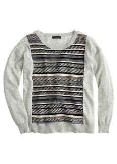 Textured-stripe sweater in grey