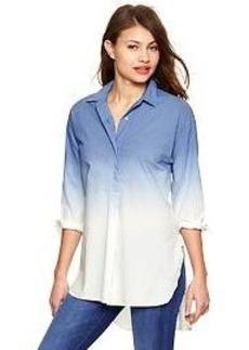 Dip-dye shirttail tunic