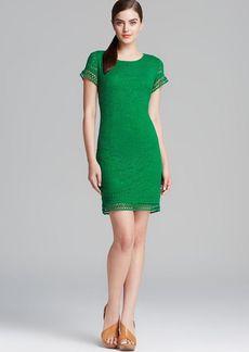 Laundry by Shelli Segal Dress - Short Sleeve Jersey Lace Shift