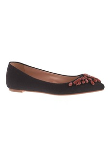Viv flannel jeweled flats
