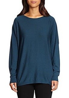 Lafayette 148 New York Ribbed-Back Wool Sweater
