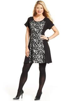Style&co. Lace-Panel A-Line Dress