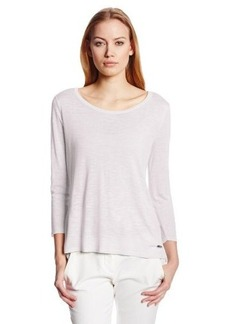 Calvin Klein Women's Mixed Media Pullover