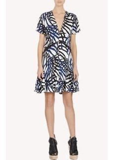 Proenza Schouler Monstera Leaf-Print Dress
