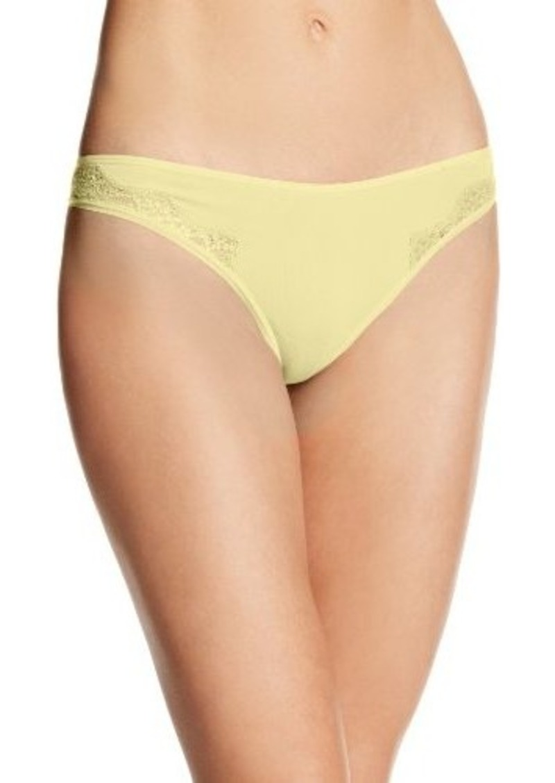 Isaac Mizrahi Women's Invisible Thong with Lace Panty