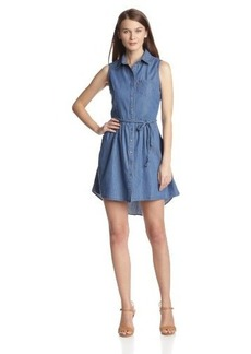 Levi's Women's Sleeveless Button Front Belted Dress