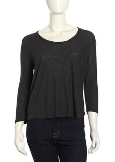 James Perse Soft V-Neck Tee, Fern