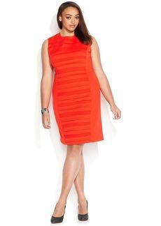 Calvin Klein Plus Size Sleeveless Ponte Banded Sheath