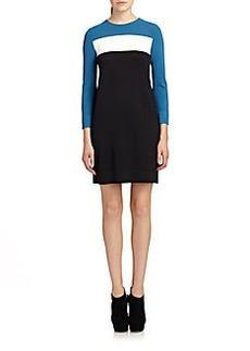 Diane von Furstenberg Aina Colorblock Sweaterdress