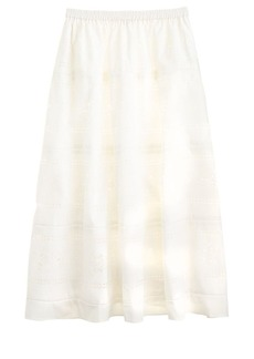 Collection laser-cut midi skirt