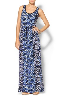 MICHAEL Michael Kors Lattice Print Sleeveless Maxi Dress