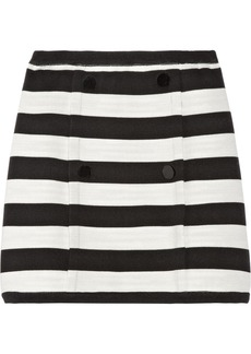 M Missoni Striped knitted cotton-blend skirt
