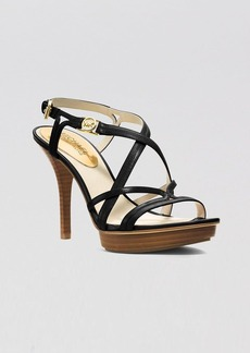 MICHAEL Michael Kors Open Toe Platform Sandals - Cicely High Heel