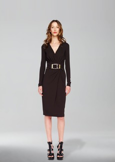 Michael Kors Buckled Wrap Dress