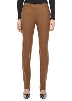 Michael Kors Country Check Wool Pants, Chocolate