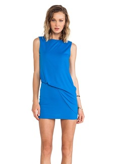 Susana Monaco Mika Side Gathered Tank Dress in Blue