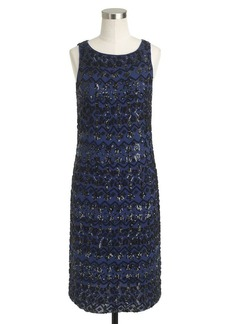Collection beaded sequin boatneck dress