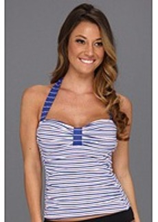Tommy Bahama Mingling Stripes Halter Cup Tankini Top