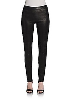 Diane von Furstenberg Kristen Leather Skinny Pants