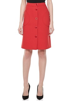 Michael Kors Duvatine A-line Skirt, Crimson