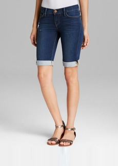 True Religion Shorts - Savannah Knee Length Cuffed in Ocean Madness