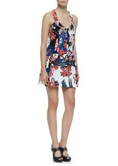 Trendy Tropics Floral-Print Silk Dress   Trendy Tropics Floral-Print Silk Dress