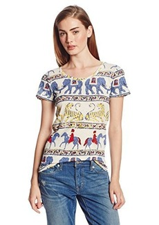 Lucky Brand Women's Woodblock Zoo Tee