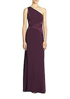 David Meister Single-Shoulder Grecian Gown